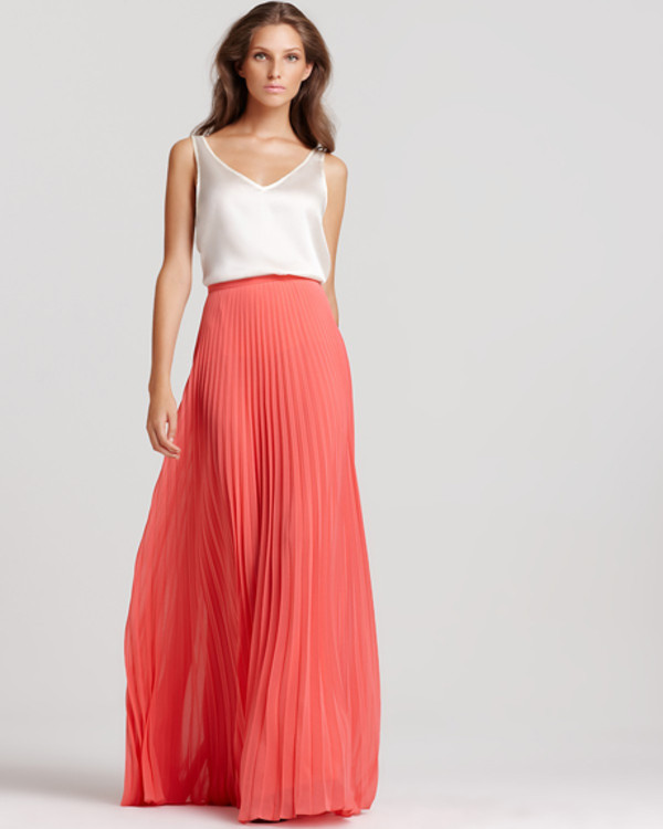 Halston Heritage Pleated Maxi Skirt | Bloomingdale's