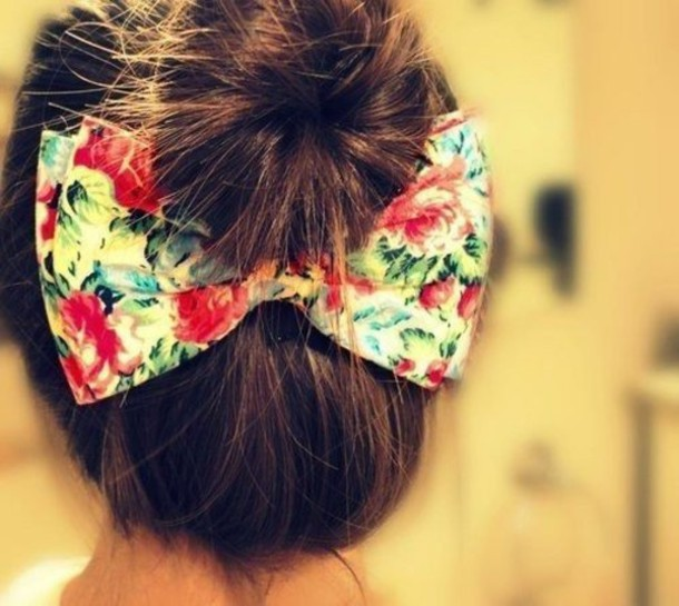 jewels bow floral flowers hair bow big bow bows bag hat cute bow floral hair bun &&& hair accessory ??new healthy look
