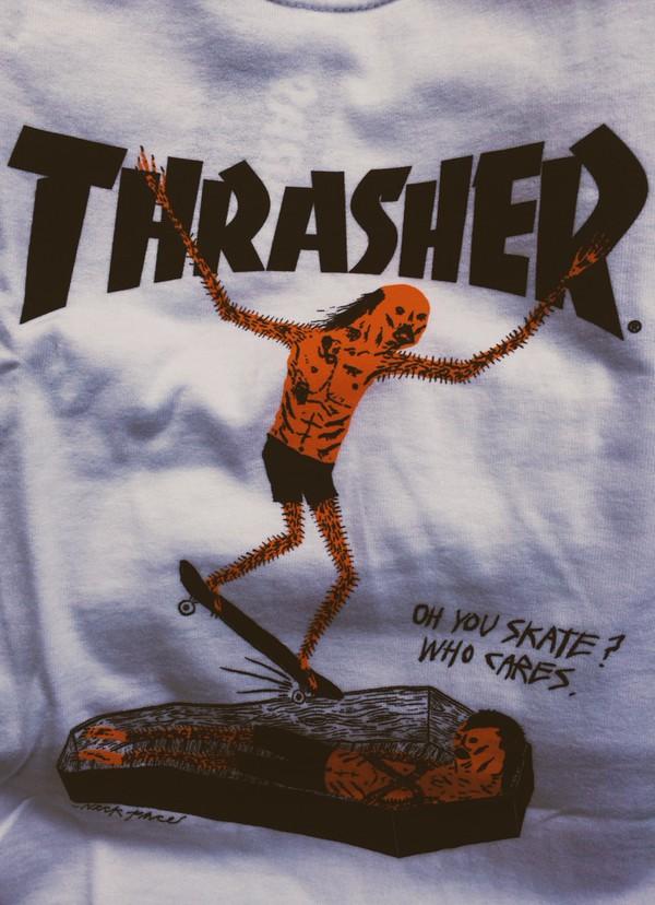 shirt thrasher skater skateboard print