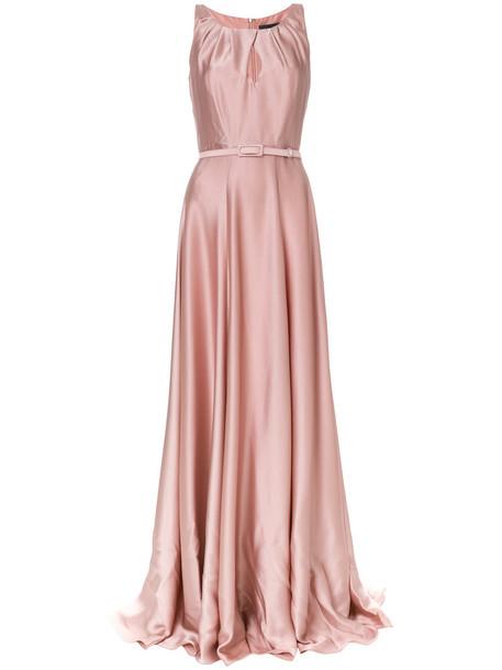 Max Mara dress women silk purple pink