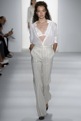 pants brock collection blouse bra bralette runway model ny fashion week 2016 spring outfits