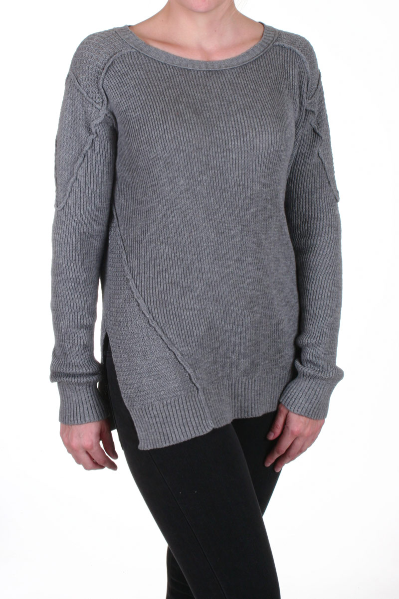 Long sleeve crew sweater in heather grey: buy michael stars at couturecandy.com
