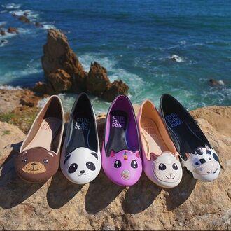 shoes cute to the core zooshoo flats cute back to school animal flats kawaii style fashion fall outfits panda