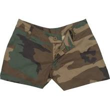 Womens Woodland Camo Hunting Camouflage Shorts S 3376 - Bright Green - Regular S