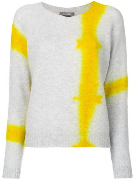 jumper women tie dye knit grey sweater