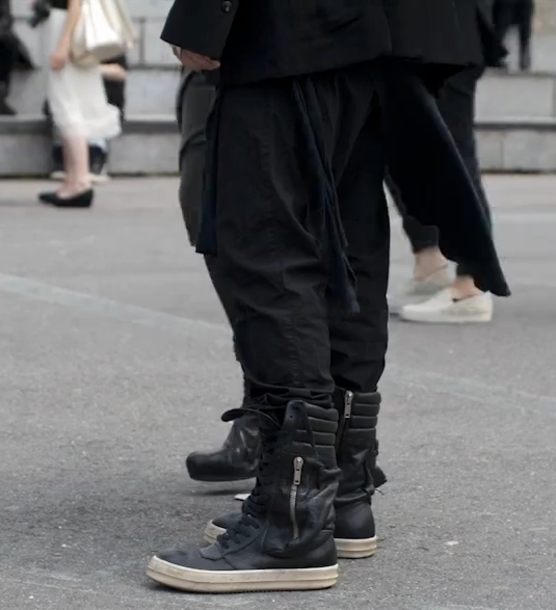 Shoes High Top Sneakers Black Leather Shoes Super High