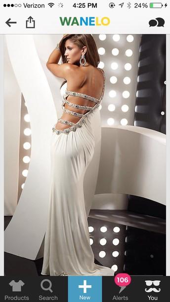 dress white dress prom dress white
