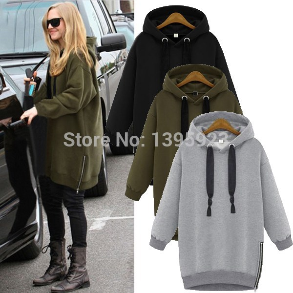 Top Quality Womens Fashion Cotton Loose Hedging Hooded Long ...