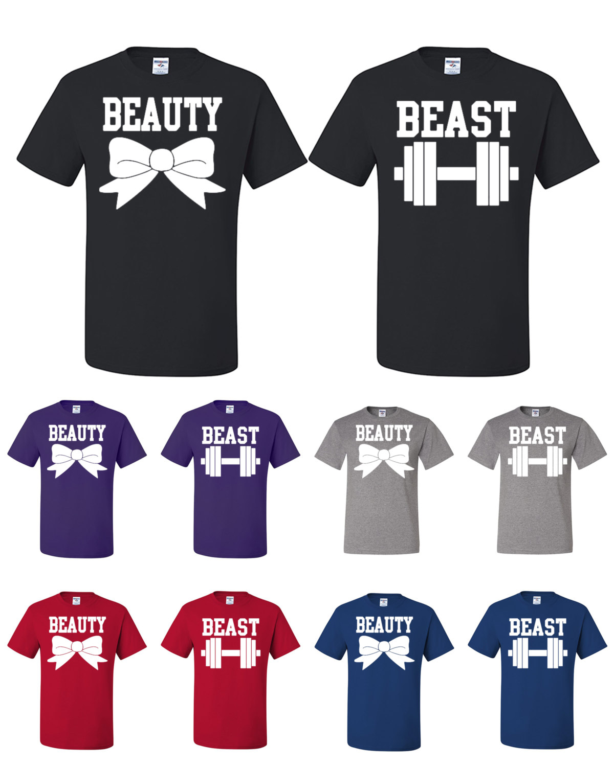 Couple matching beauty and beast shirts funny couple shirts disney couple shirts
