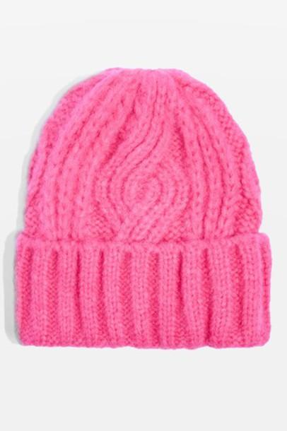 Topshop beanie black knit hat