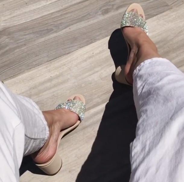 shoes heels silver heels sandals gem heels slip on shoes diamond heels slip on shoes low heel rhinestone shoes