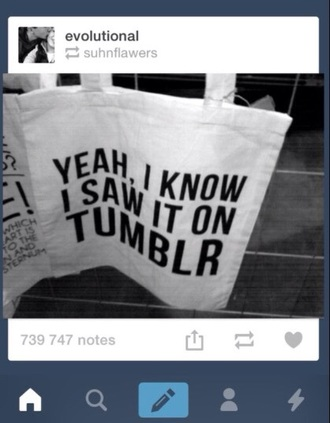 bag tumblr tote bag
