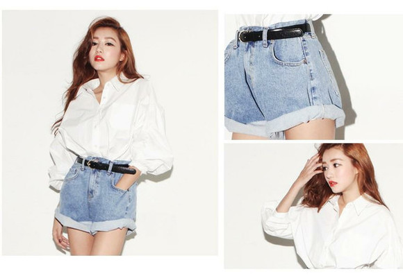highwaist shorts jeans oversized