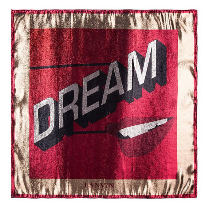 red scarf metallic dream women scarf red
