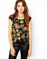 Floral Printed T-shirt Women - ShopStyle UK