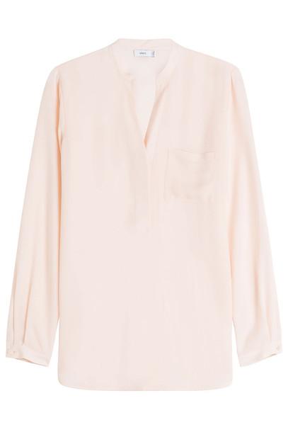 Vince blouse silk beige top