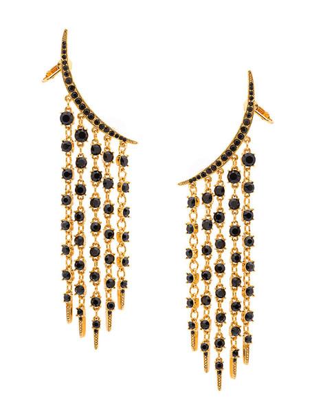 oscar de la renta women earrings black jewels