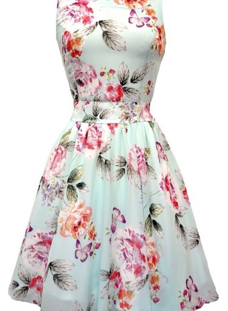 dress floral dress mint dress hat