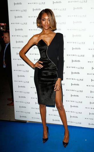 dress asymmetrical jourdan dunn fashion week 2014