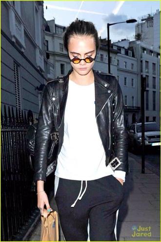 sunglasses cara delevingne pants