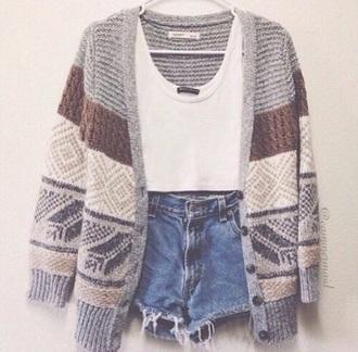 cardigan beige pattern knitwear