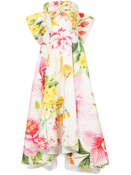 Bambah gown bow women white silk dress