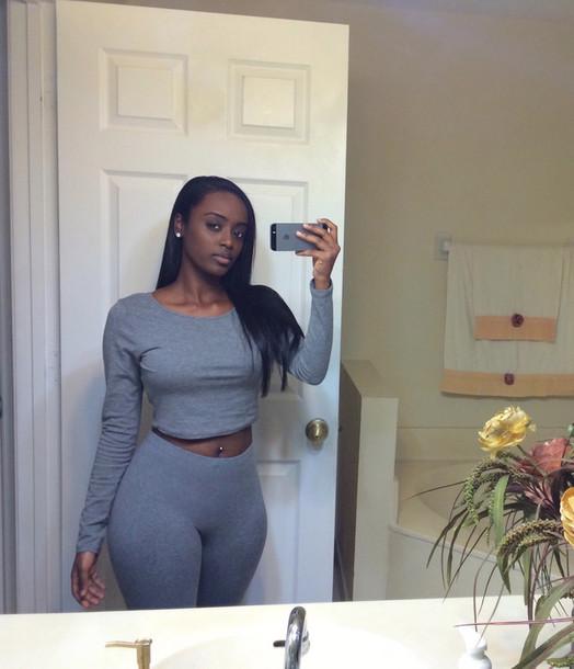 leggings crop tops grey grey pants jumpsuit