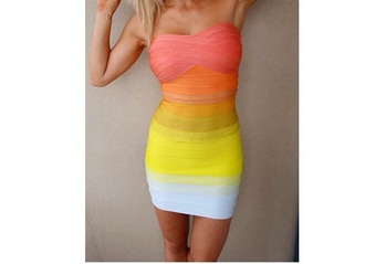 dress yellow dress pink dress orange dress white dress summer dress tight dress