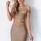 Kylie bandage dress in khaki - black swallow boutique