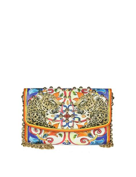 Dolce & Gabbana leather clutch clutch leather print bag