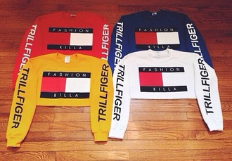 shirt crop tops tommy hilfiger crop top