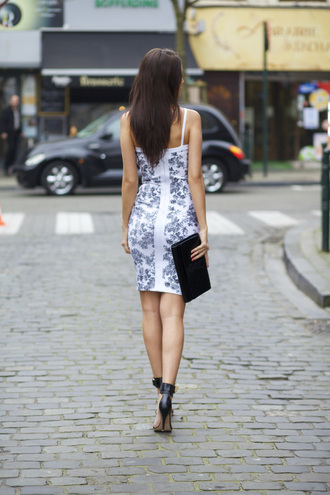 from brussels with love blogger party dress bodycon dress spring dress black sandals