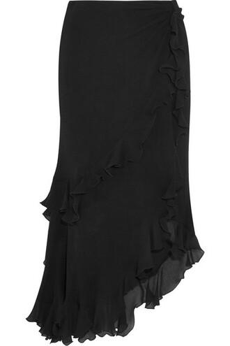 skirt midi skirt midi black silk