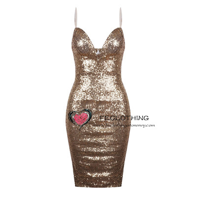 Neck tight package hip sequins dress · fe clothing · online store powered by storenvy