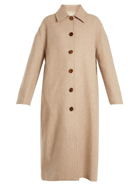 KHAITE coat wool beige