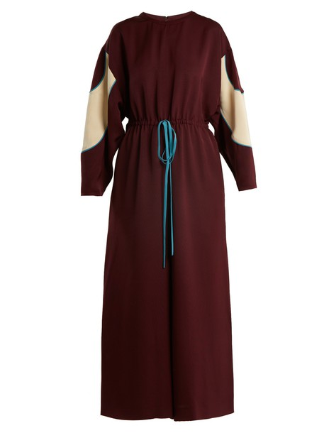 Valentino jumpsuit drawstring burgundy