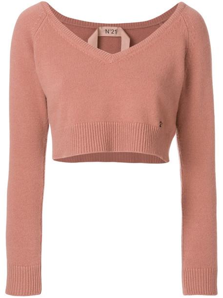 No21 sweater women wool purple pink