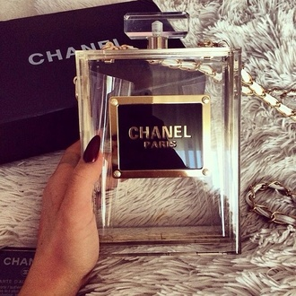bag love clear clutch chanel perfume purse chanel inspired