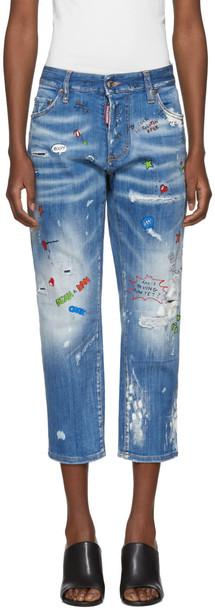 Dsquared2 jeans tomboy blue