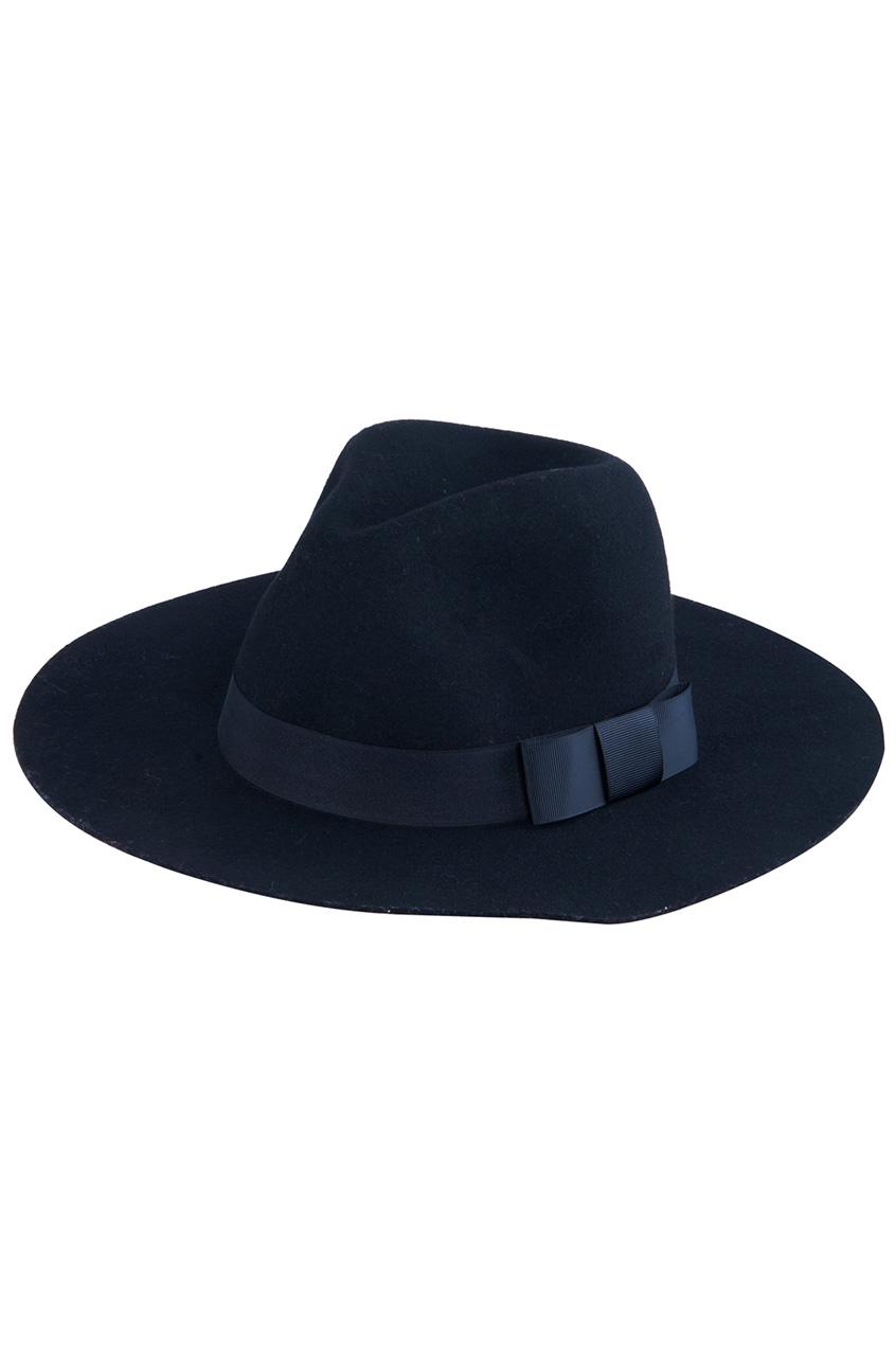 Bowknot embellished vintage black hat