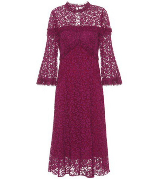Erdem dress lace dress lace purple