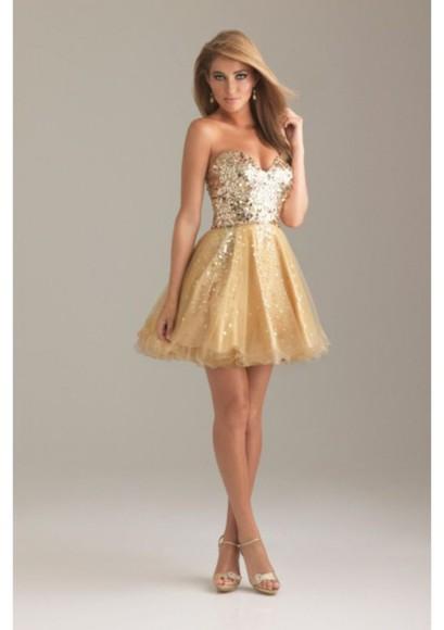 dress glitter dress glitter prom short prom dress prom dress gold