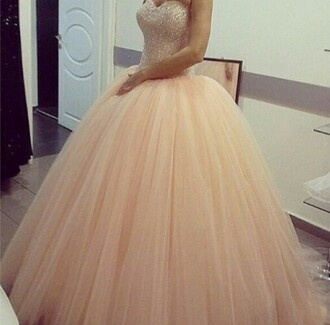 prom dress baby pink poofy poofy dress quinceanera dress quinceanera gown quincenera jewels