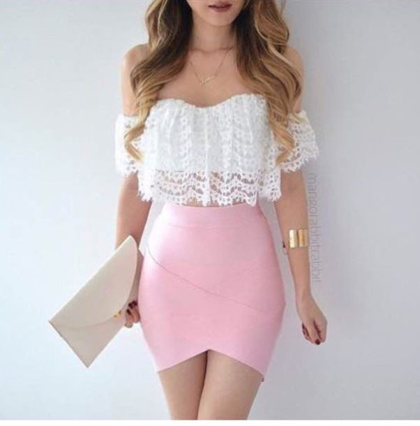 White Crop Top Blouse 8