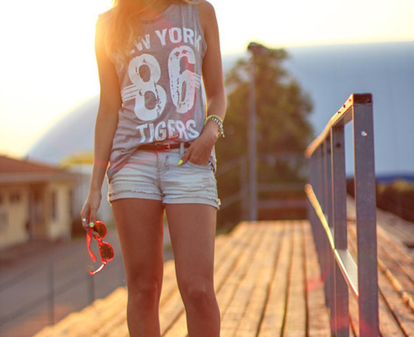 shorts summer new york city fashion top t-shirt shirt