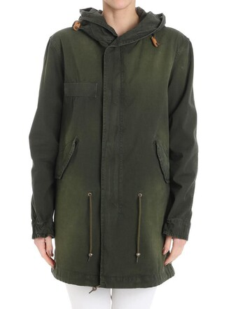 parka green coat