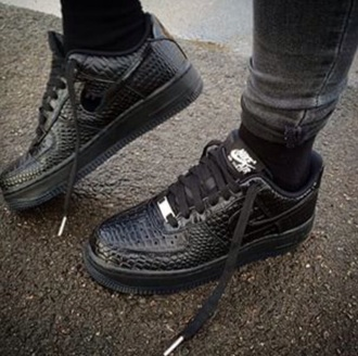 shoes black nike crocs low nike air force 1