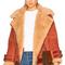 Acne studios velocite suede jacket in sienna brown | fwrd