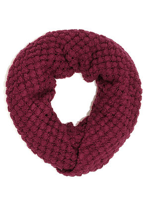 Neither Sphere Nor There Burgundy Infinity Scarf