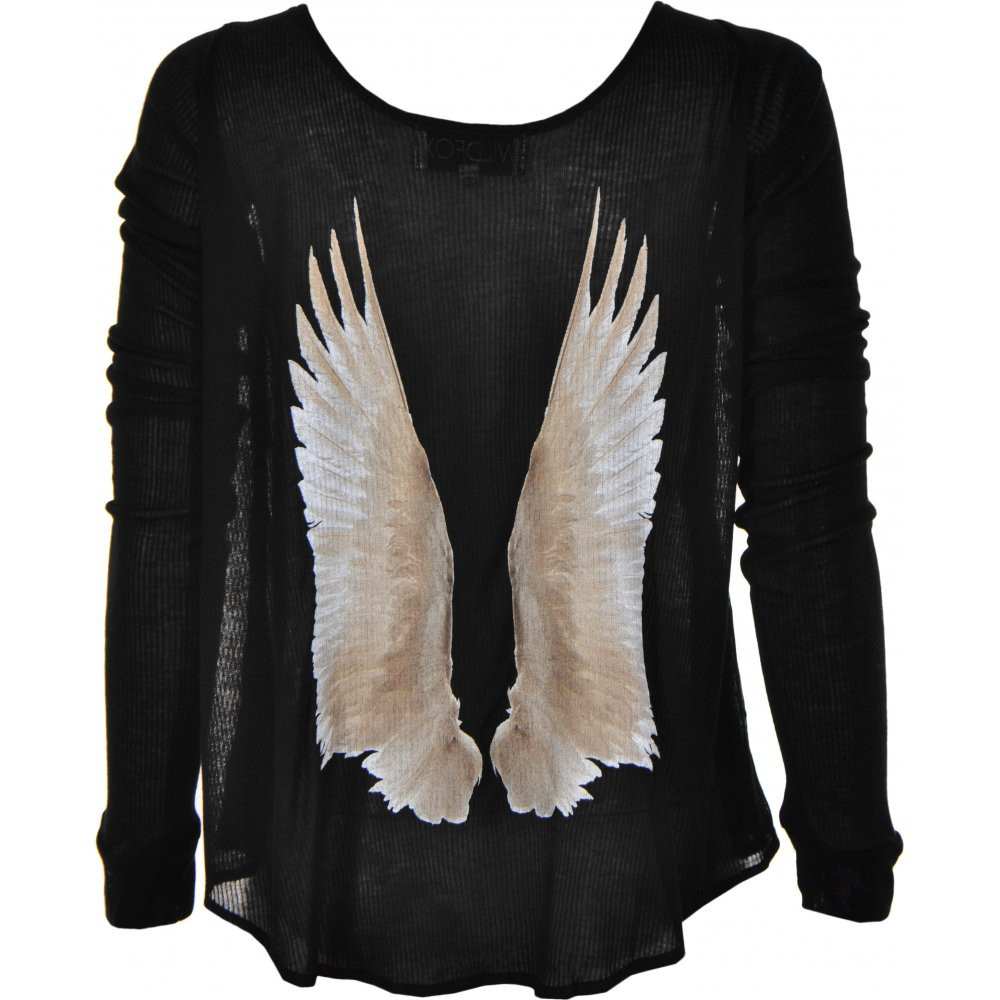 """cassidy's dream"" angel wings long sleeve top – glamzelle"
